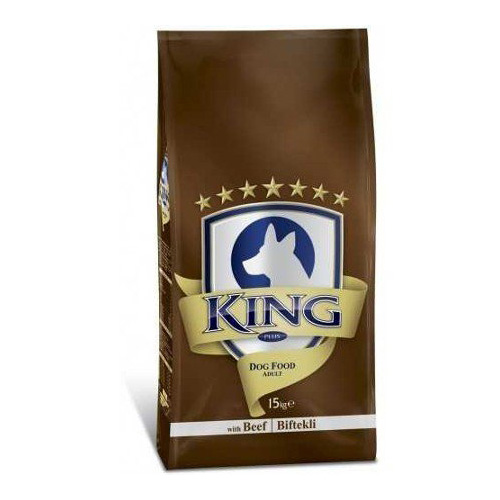 King Yetişkin Köpek Maması Biftekli 15 Kg